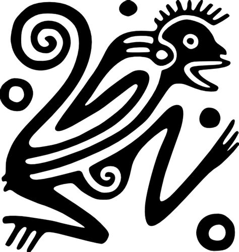Ancient Mexico Motif clip art Free vector in Open office