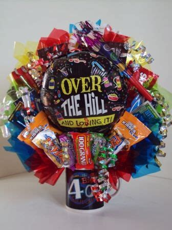 Birthday bouquet, Over the hill and 40th birthday on Pinterest
