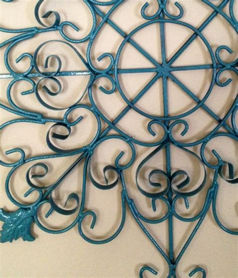 Metal Wall Art Wrought Iron Scroll Design by